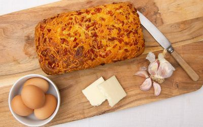 Cheese and Bacon Keto Bread