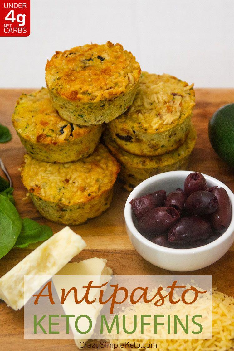 Antipasto Keto Muffins - CrazySimpleKeto.com