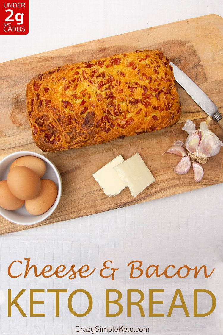 Cheese and Bacon Keto Bread - CrazySimpleKeto.com