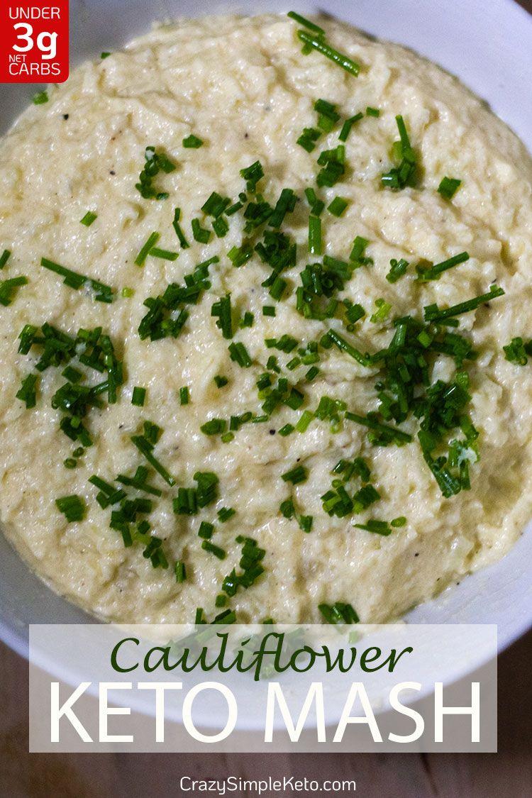 Keto Cauliflower Mash  - CrazySimpleKeto.com
