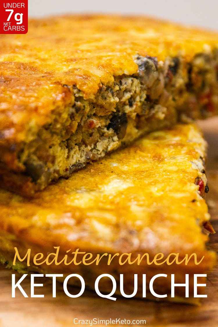 Mediterranean Keto Quiche - CrazySimpleKeto.com