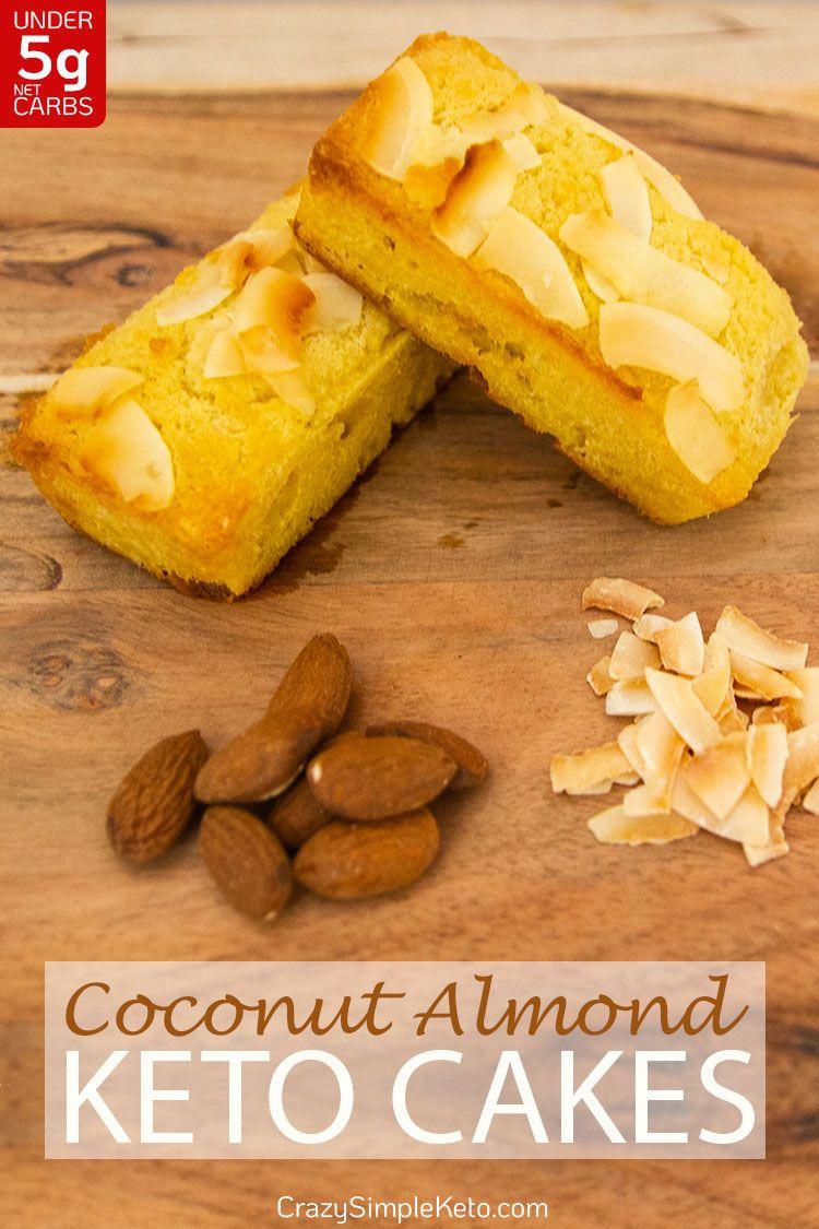 Coconut Almond Keto Cakes - CrazySimpleKeto.com