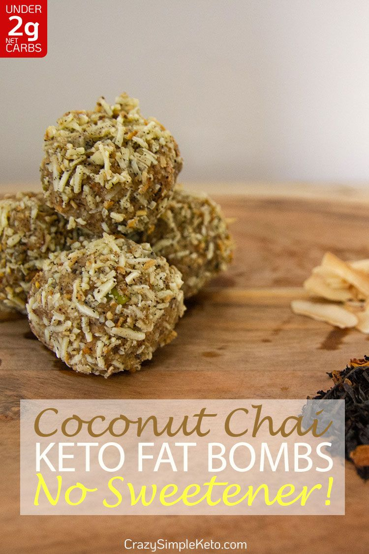 Coconut Chai Keto Fat Bombs with No Sweetener - CrazySimpleKeto.com