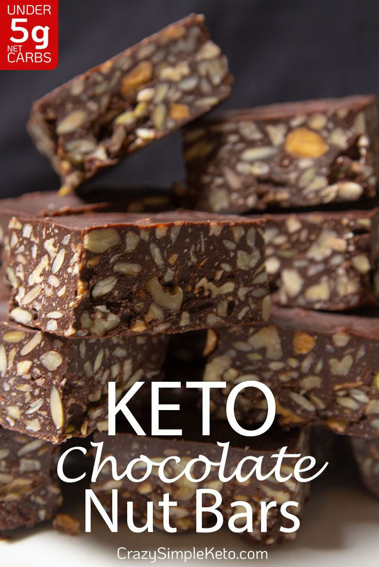 Keto Chocolate Nut Bars - CrazySimpleKeto.com