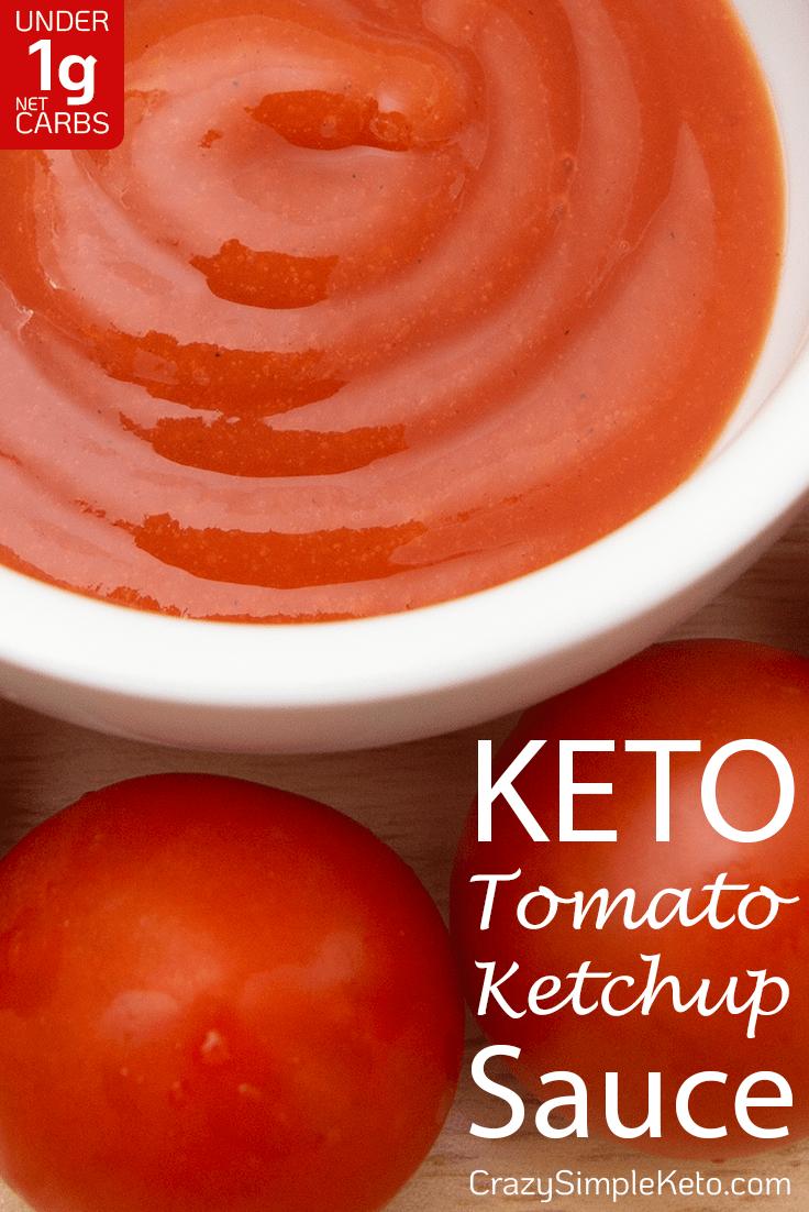 Keto Tomato Ketchup Sauce - CrazySimpleKeto.com