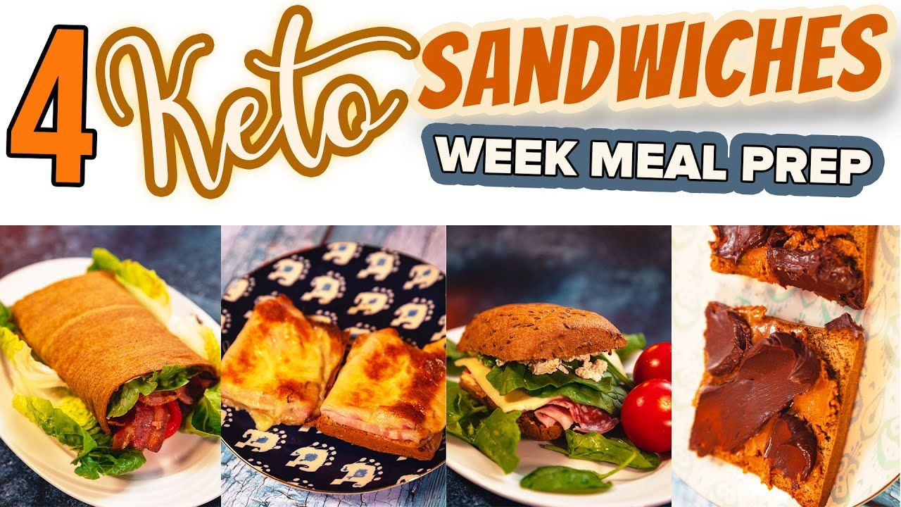 4 KETO Sandwiches 🥪🥙 Lunch Box Meal Prep with Lizza Bread and Wraps