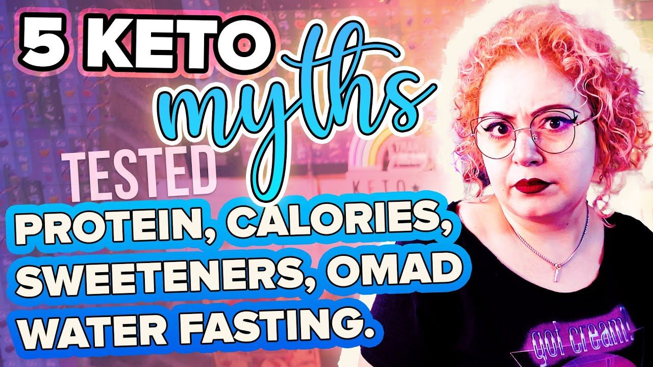 5 KETO Myths tested + explained 5️⃣ Protein Sweeteners Calories Fasting Omad