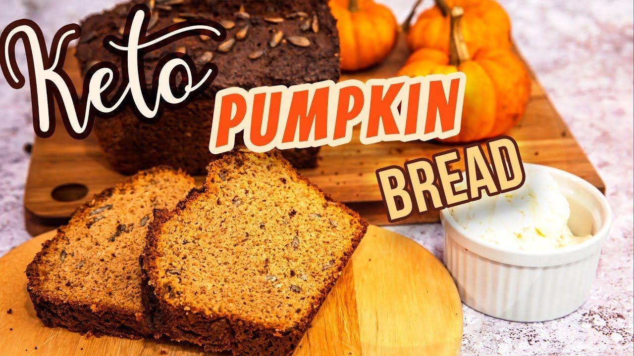 Best KETO Pumpkin Bread Recipe 🎃 Low Carb Sweet Bread Loaf Easy Dessert