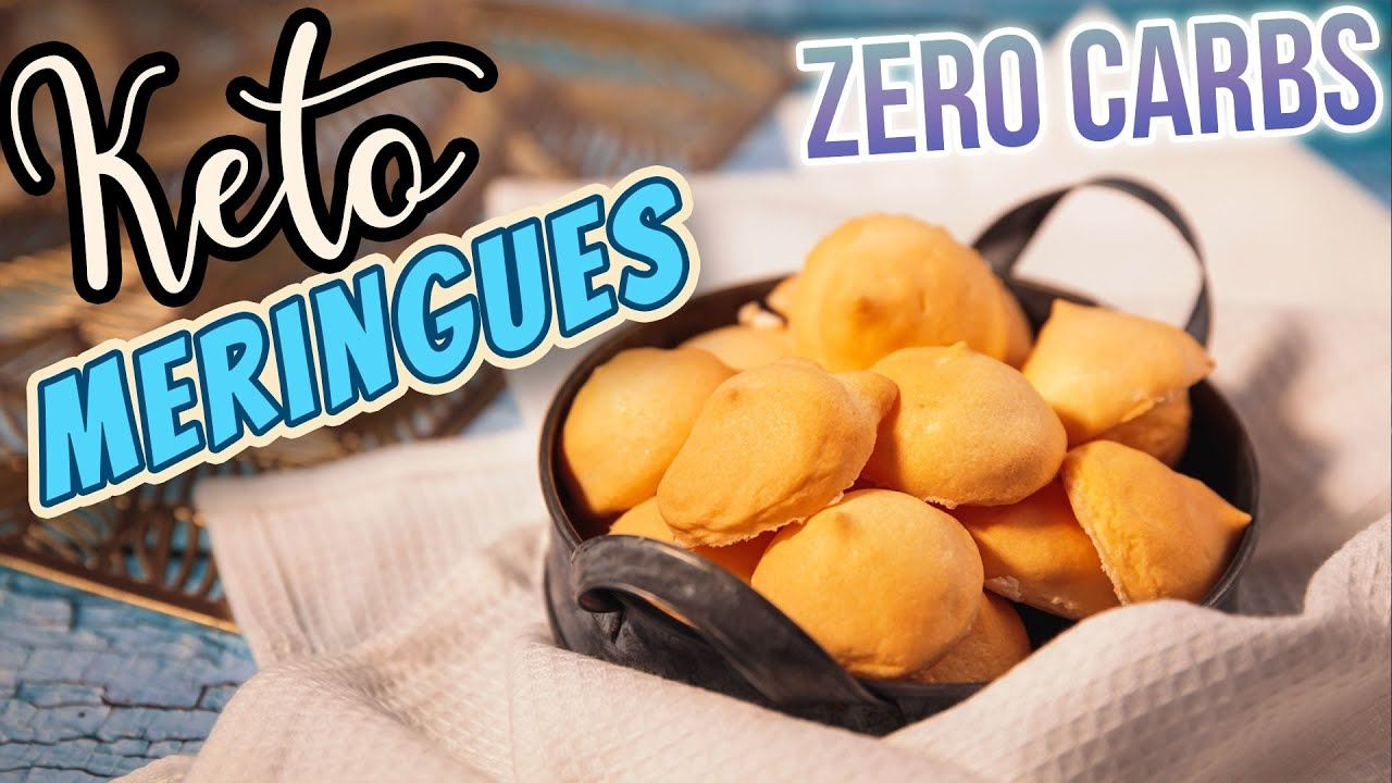 Easy KETO Meringue Cookies ZERO CARBS 3kcal – Great British Bake Off 2020