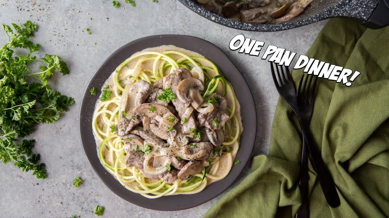 Easy Keto Beef Stroganoff Recipe in One Pan!