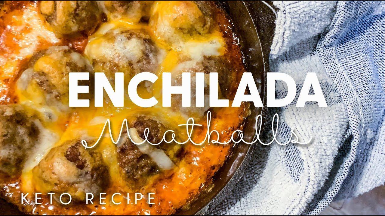 Fat Burning Keto Recipe!  (With Macros) Low Carb Enchilada Meatballs