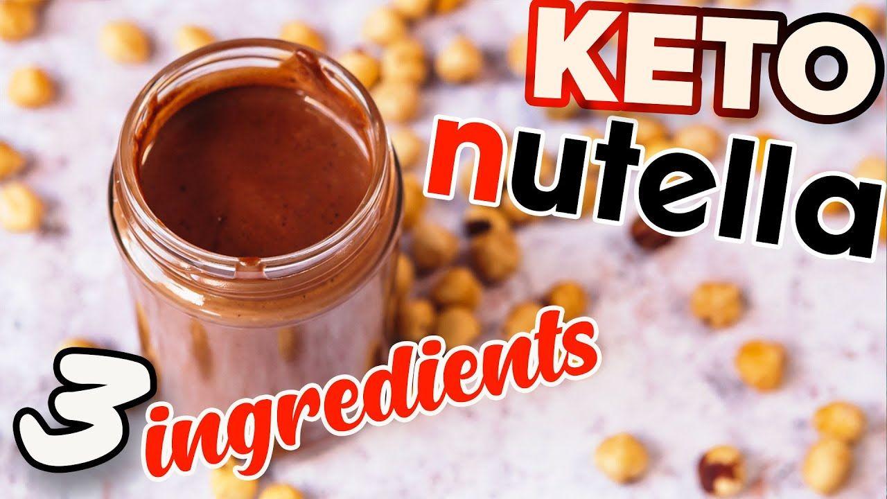 Healthy Nutella Recipe KETO 🥄 3 Ingredients HomeMade Sugar Free Chocolate Spread