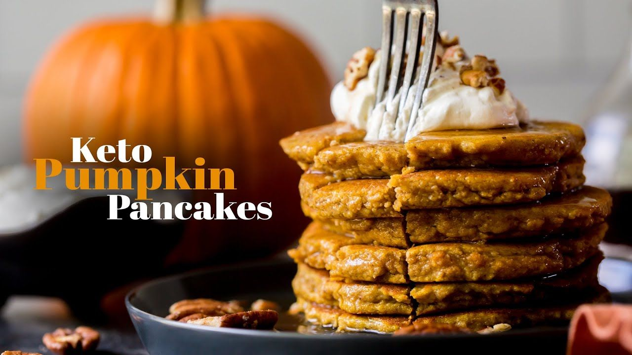 How To Make Fluffy Keto Pumpkin Pancakes | Gluten Free