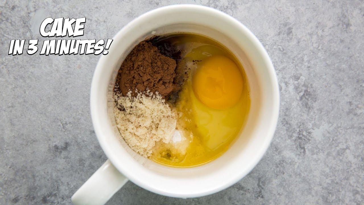 How to Make a Chocolate Mug Cake in 3 Minutes!