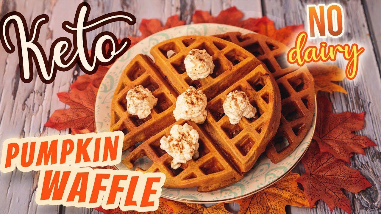 KETO Pumpkin Pie Chaffle 🎃 Low Carb Waffle Dessert Recipe EASY NO CHEESE