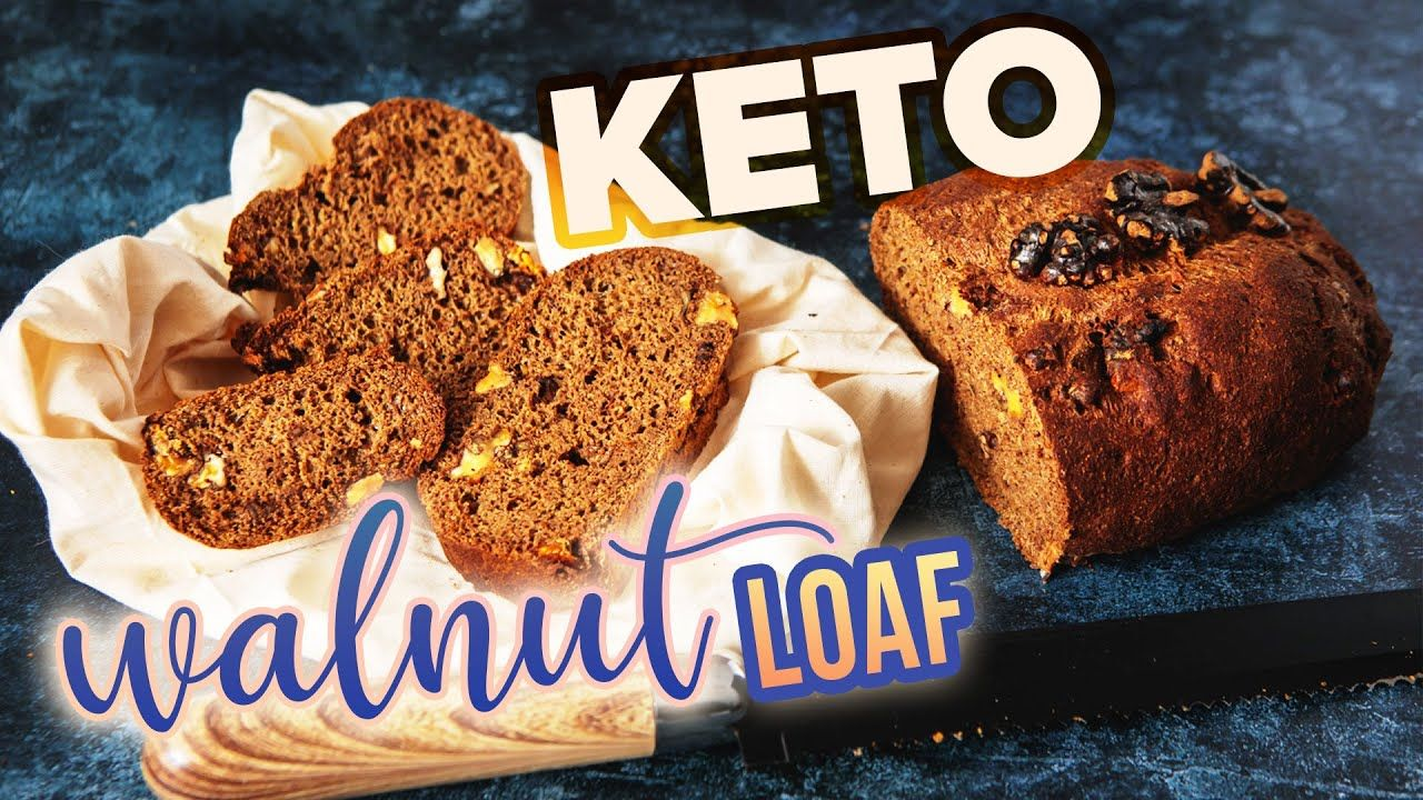 KETO Walnut Bread Recipe 🍞 2 Ingredients VEGAN Low Carb Lizza Bread Loaf EASY