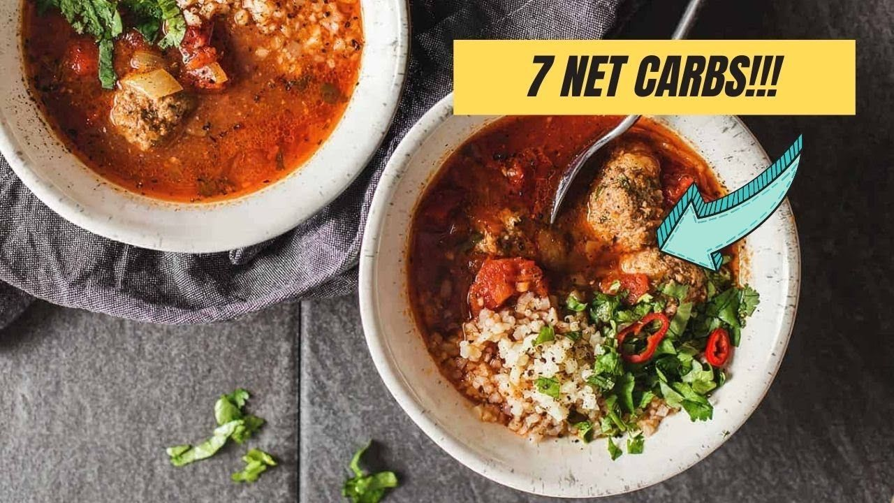 Keto Mexican Inspired Meatball Soup