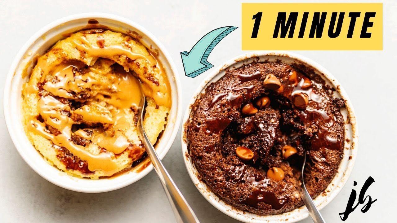 Keto Mug Cakes – Chocolate and Peanut Butter