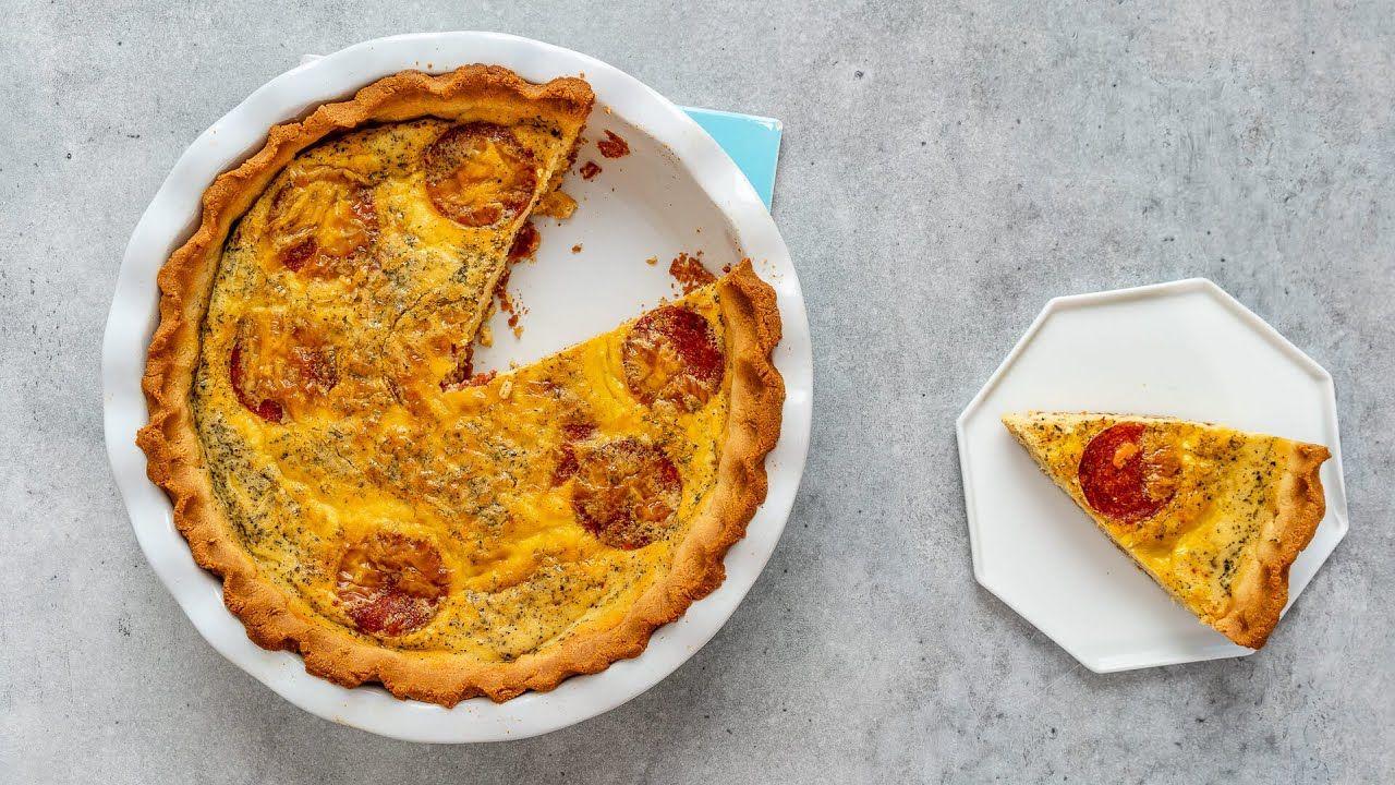 Keto Pepperoni Pizza Quiche Recipe