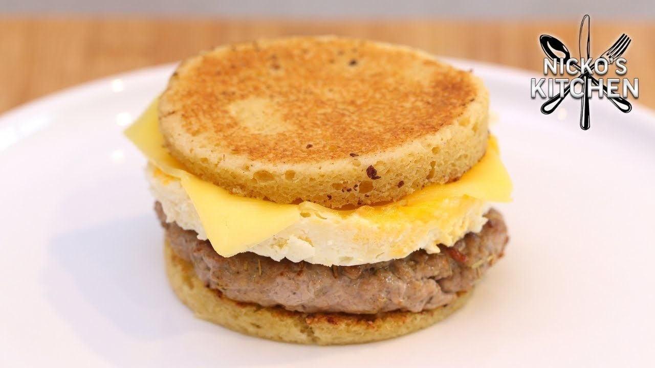 Keto Sausage & Egg McMuffins | Easy Breakfast Sandwich Recipe