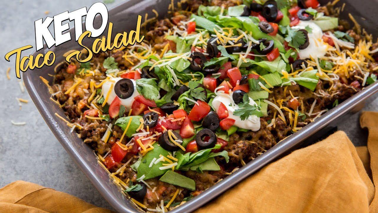 Keto Taco Salad Casserole Recipe | 20 Minute Dinner