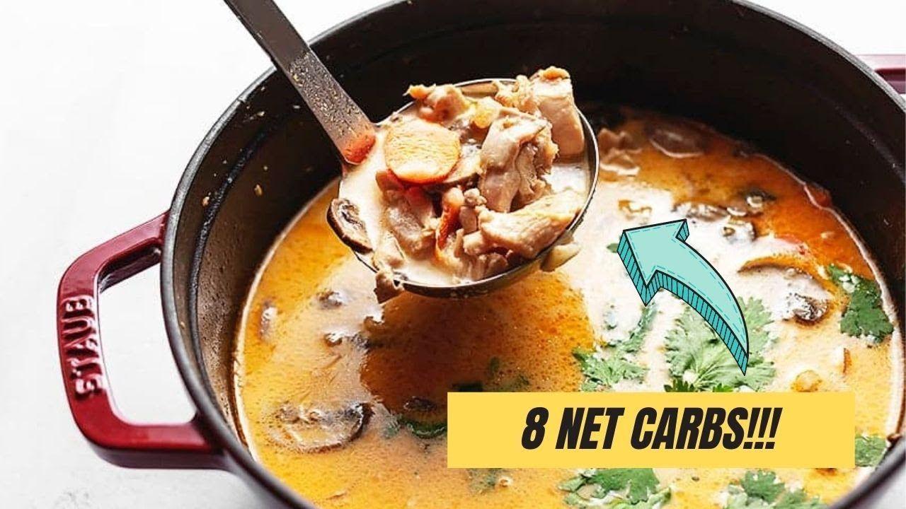 Keto Thai Chicken Soup With Coconut Milk