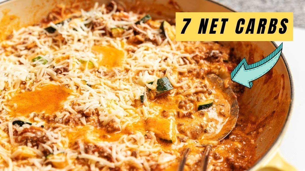 Keto Zucchini Lasagna Skillet