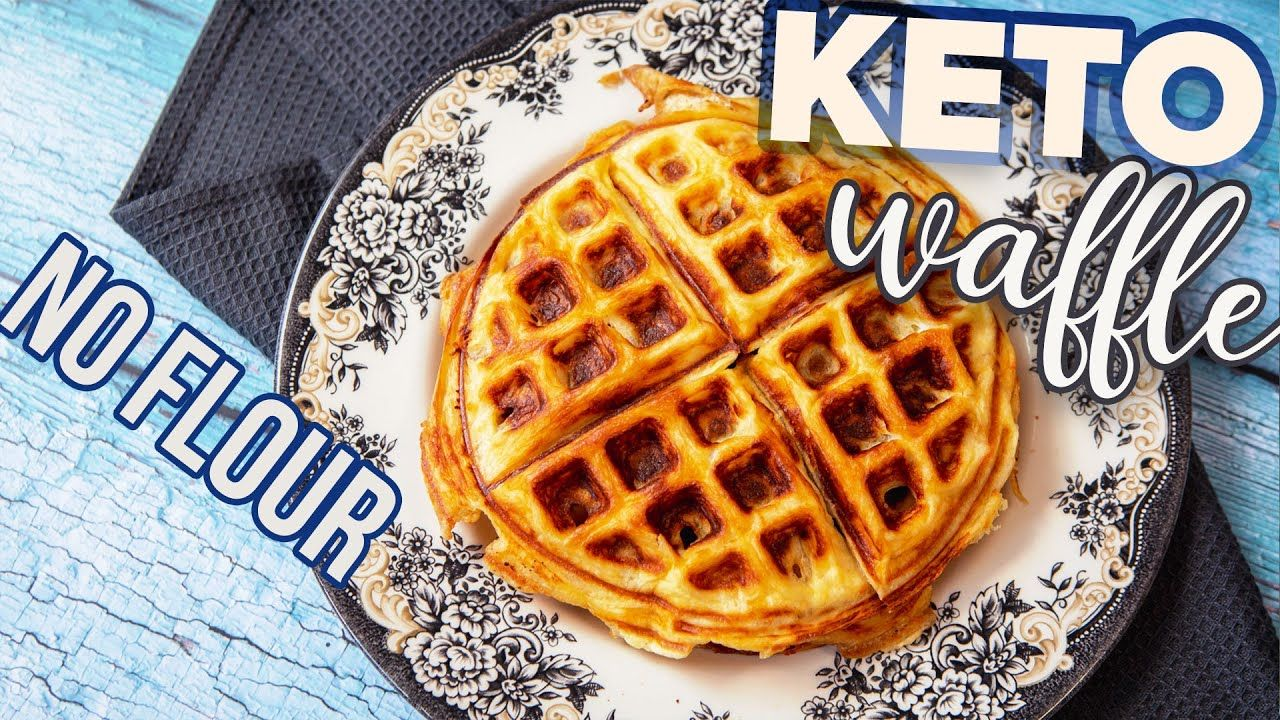 Real KETO Waffles Recipe 🧇 3 ingredients CARNIVORE NO Flour NO Chaffles