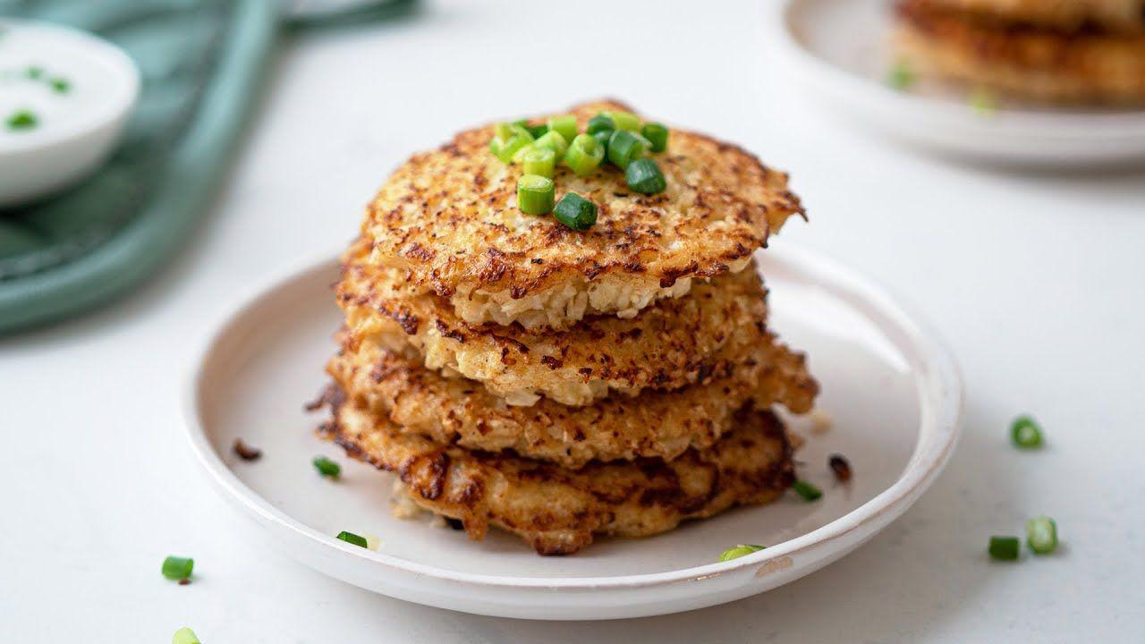 5-Ingredient Keto Cauliflower Hash Browns