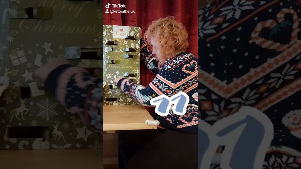DAY ELEVEN low carb advent calendar opening lizza