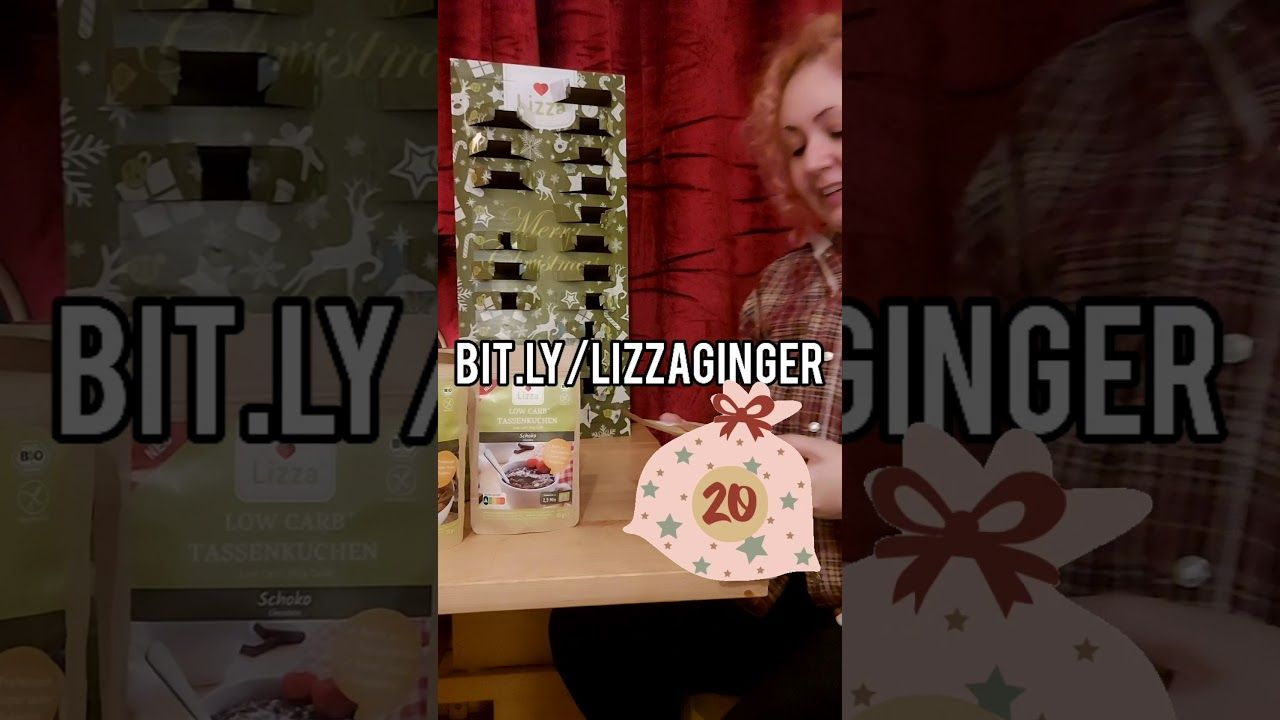DAY TWENTY low carb Advent calendar opening Lizza #Shorts