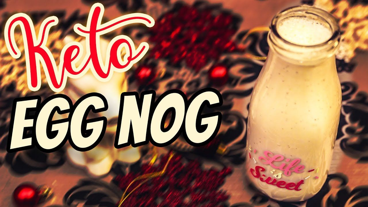 EASY Keto EggNog Recipe 🎄 FAT BOMB Keto Christmas Recipes