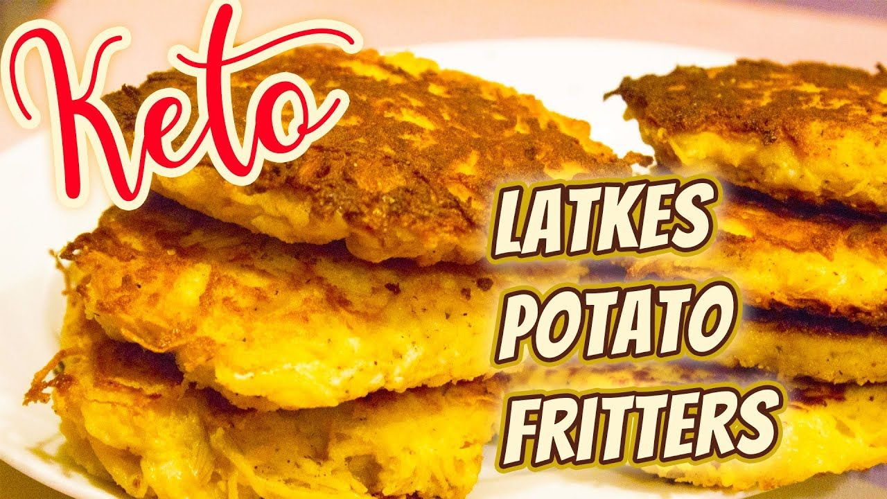 Keto Latkes Recipe – How to make Low Carb Latkes potato fritters without Cauliflower!