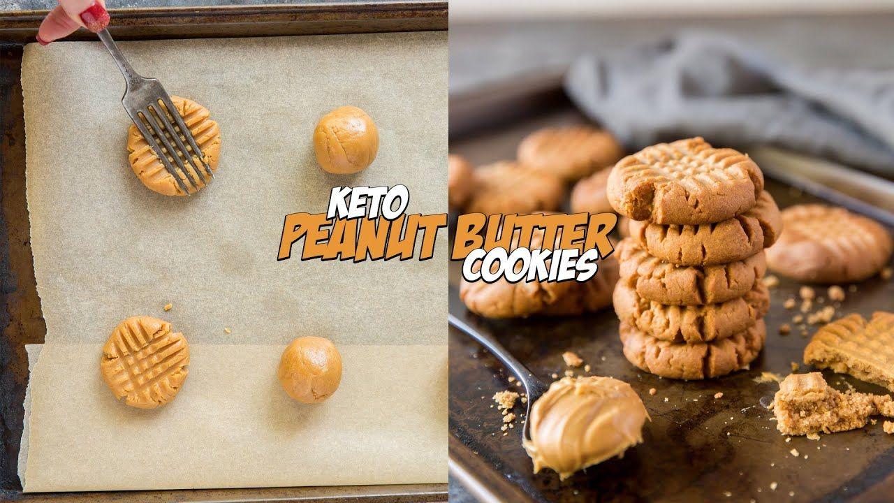 THREE Ingredient KETO Peanut Butter Cookies in 15 Minutes..