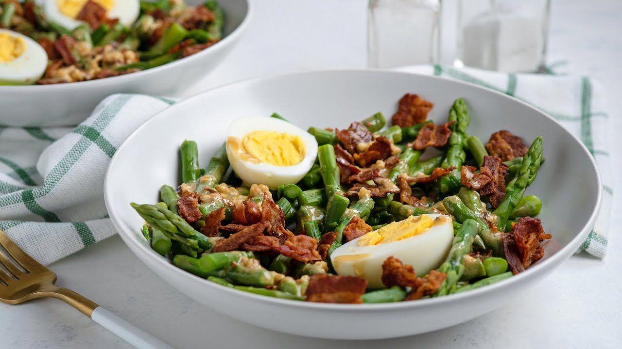 Keto Recipe – Asparagus, Egg, and Bacon Salad