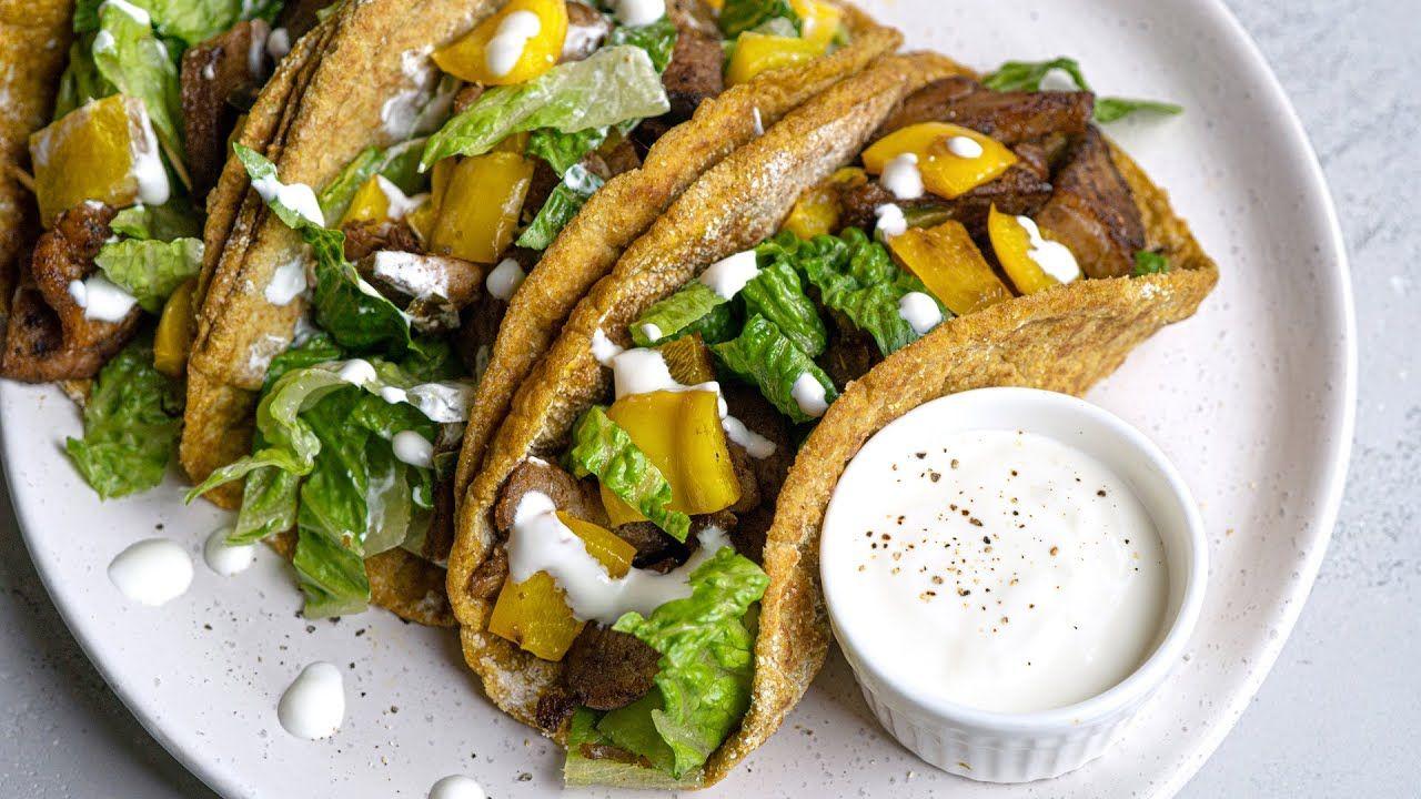 Keto Recipe – Pork Carne Asada Tacos [with Flax Tortillas]