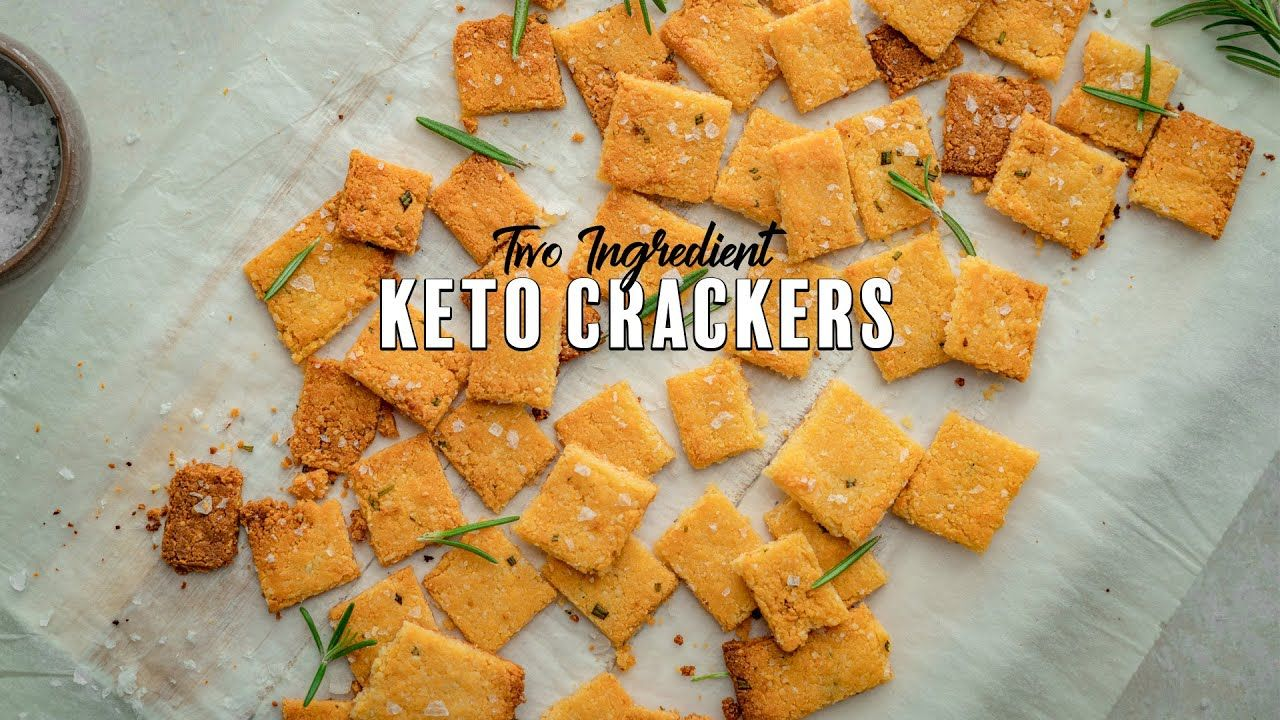 Two Ingredient Keto Crackers | Simple Keto Snacks
