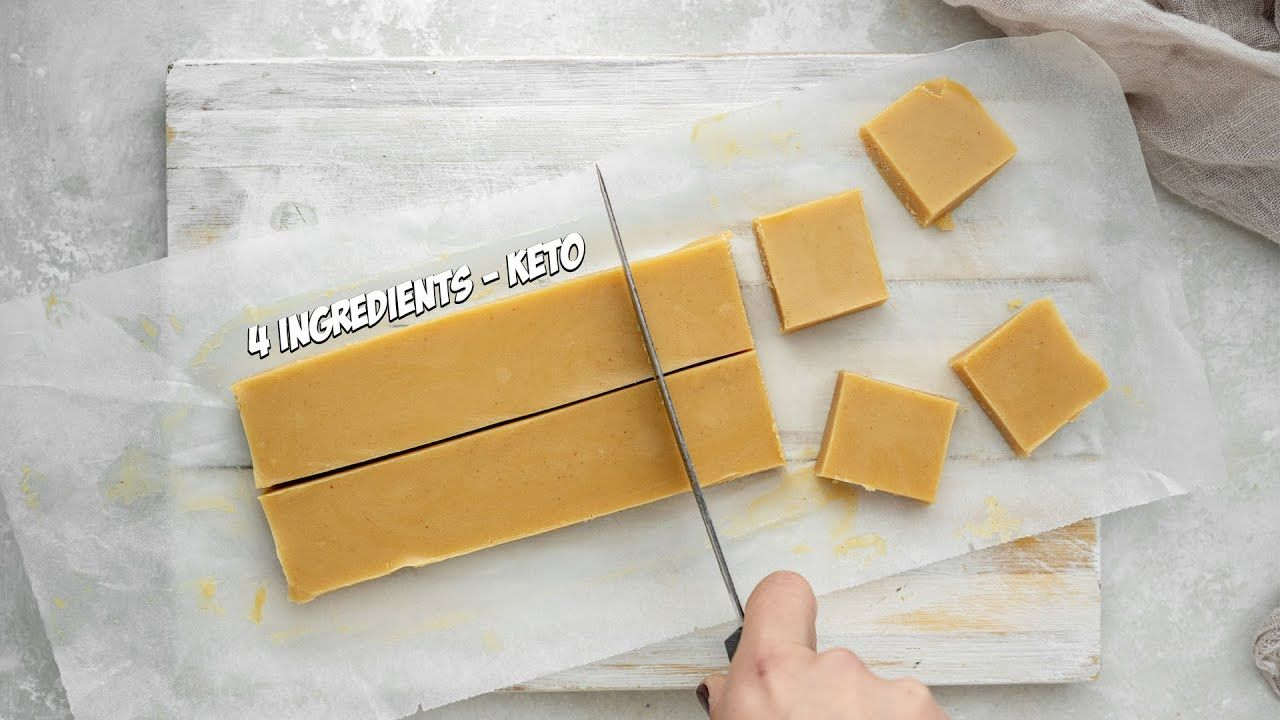 How To Make KETO Peanut Butter Fudge With JUST 4 Ingredients
