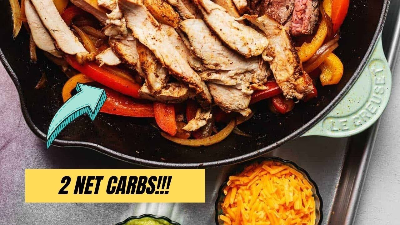 Keto Fajitas With Chicken and Beef