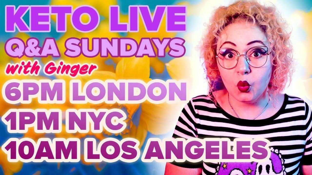 Ginger Keto UK Live Q&A 18th April 2021