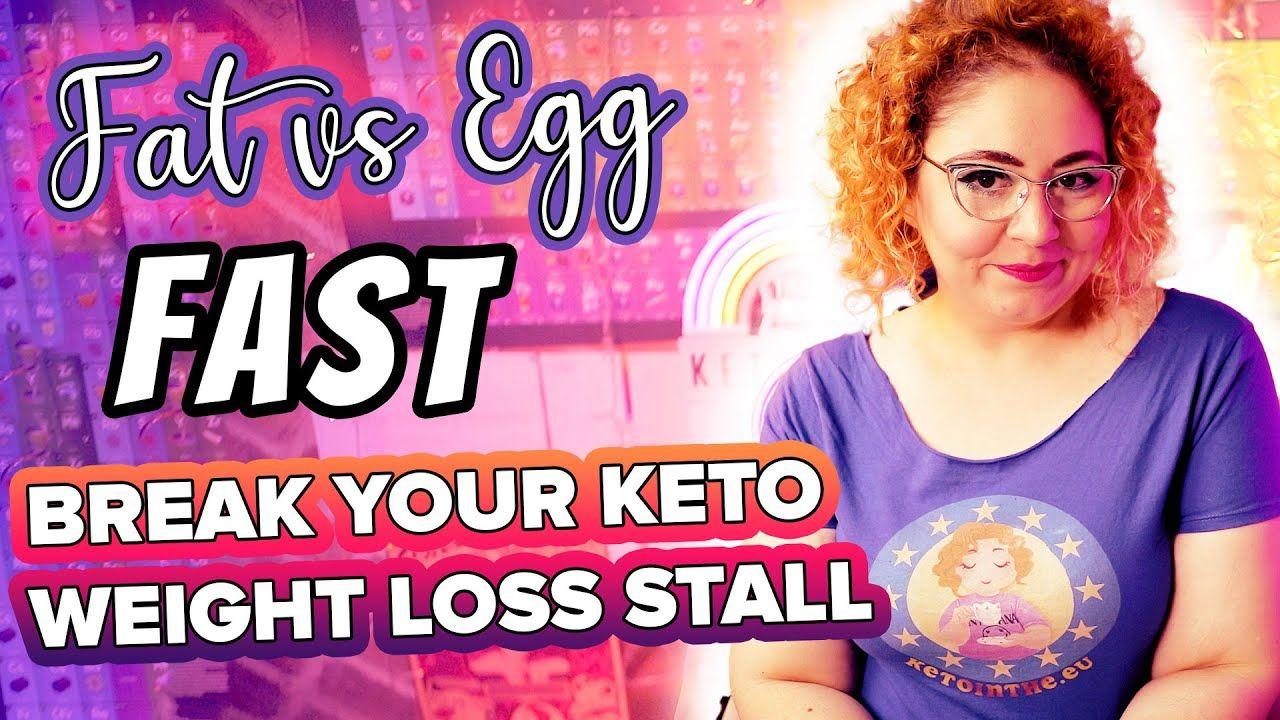 KETO Fat Fast V Egg Fast 🍳 BREAK Weight Loss Stall