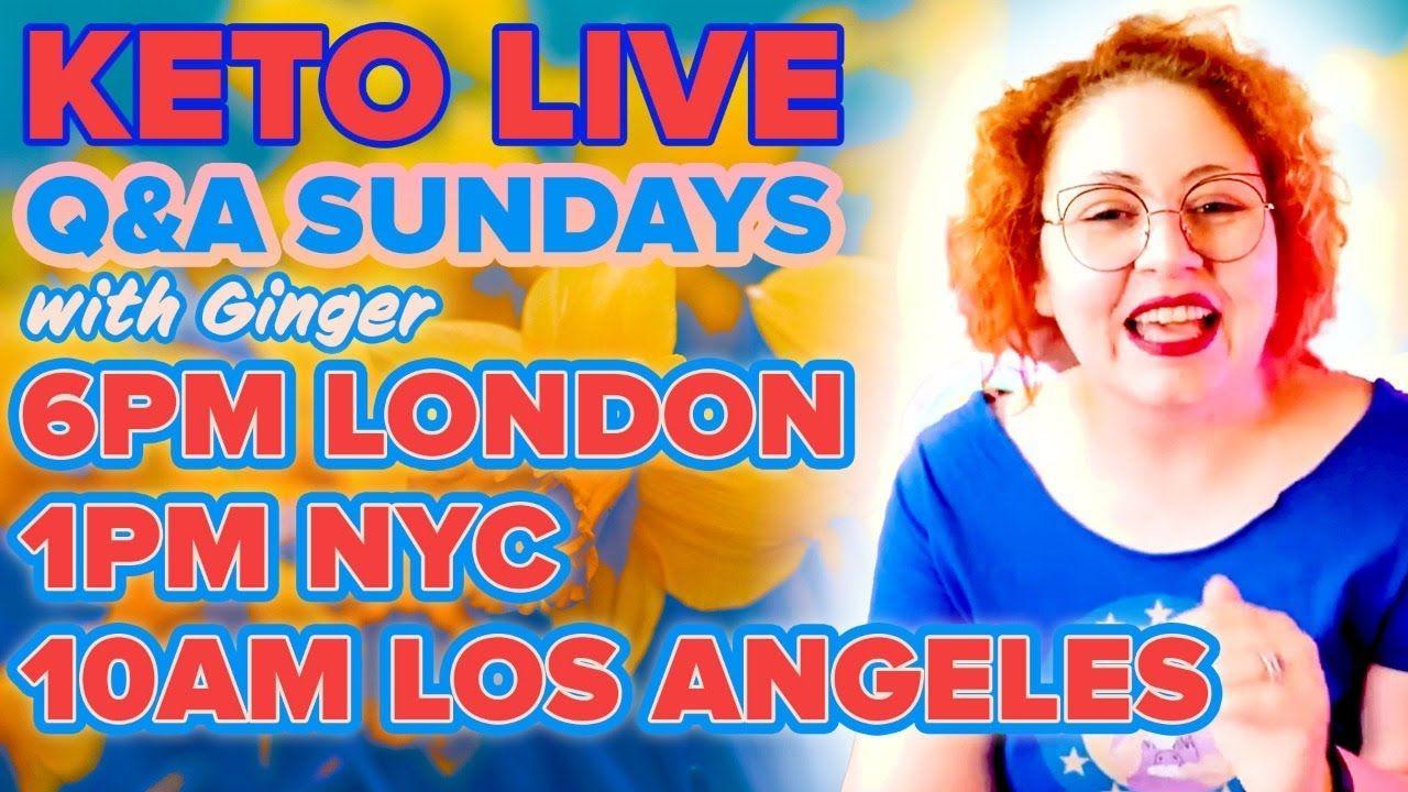 Ginger Keto UK Live Q&A 16th May 2021