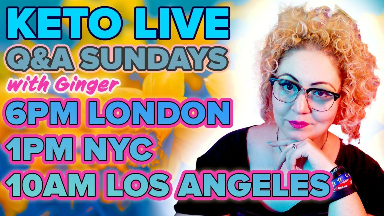 Ginger Keto UK Live Q&A 2nd May 2021
