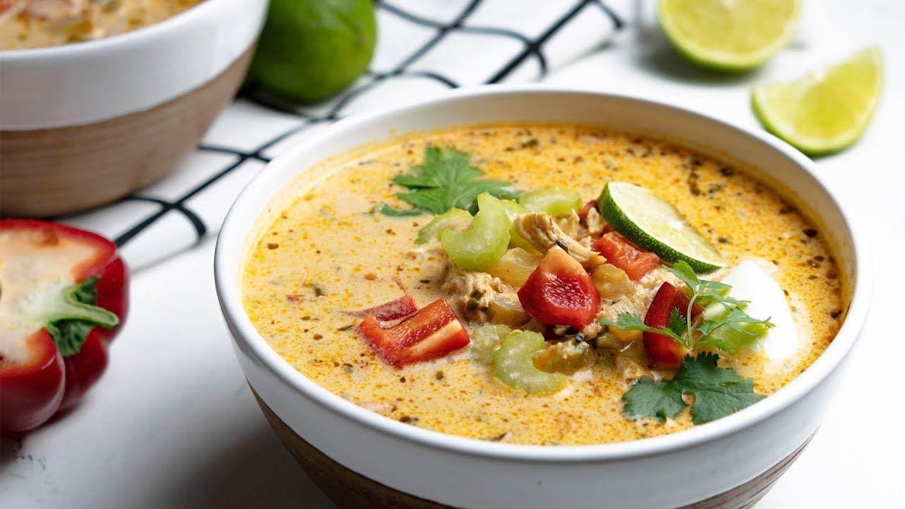 Keto Chicken Enchilada Soup Recipe [Fresh & Zingy]