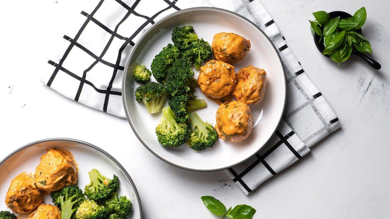 Keto Recipe – Chicken Meatballs with Tomato Cream Sauce