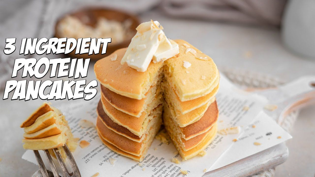 3 Ingredient Protein Pancakes in Less Than 10 Minutes!