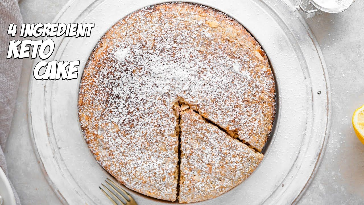 Easy Almond Flour Cake Using Just 4 Ingredients | Gluten Free Recipes