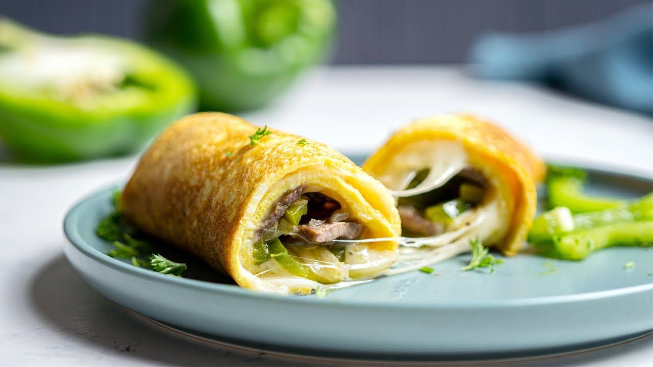 Keto Philly Cheesesteak Omelet [Hearty Breakfast or Lunch]