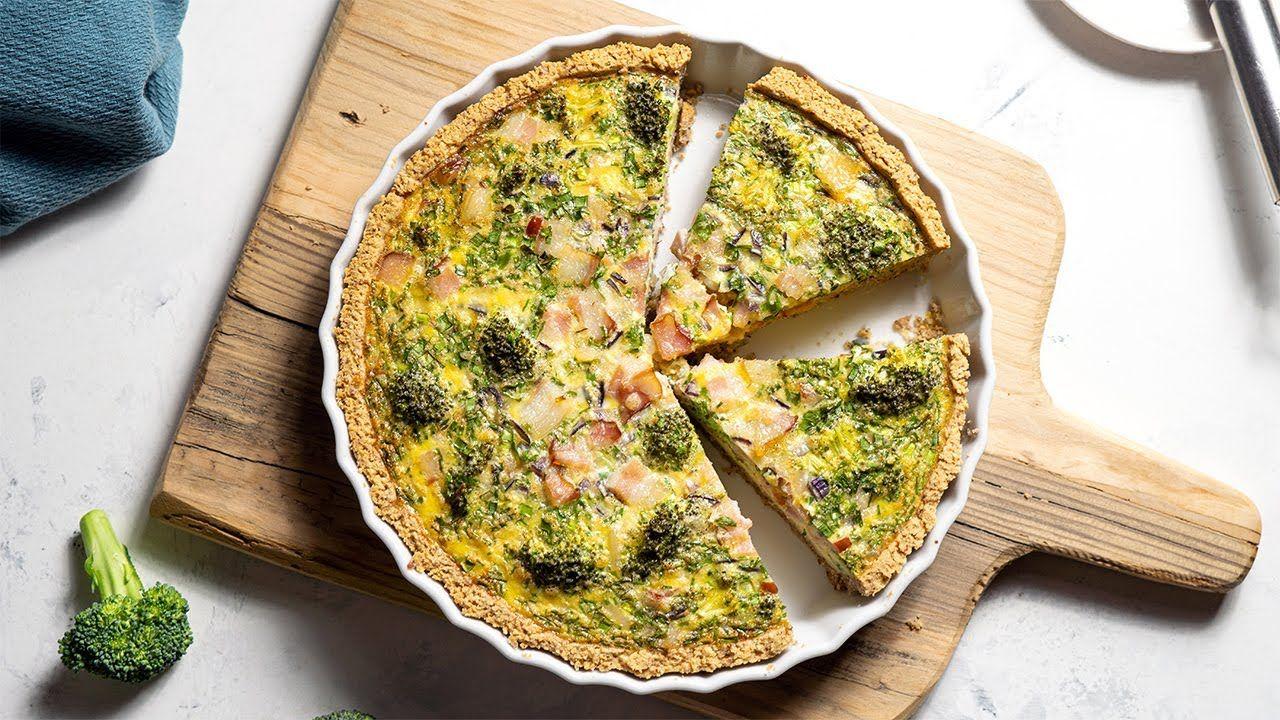 Keto Bacon & Broccoli Tart Recipe [Perfect for Brunch or Dinner]