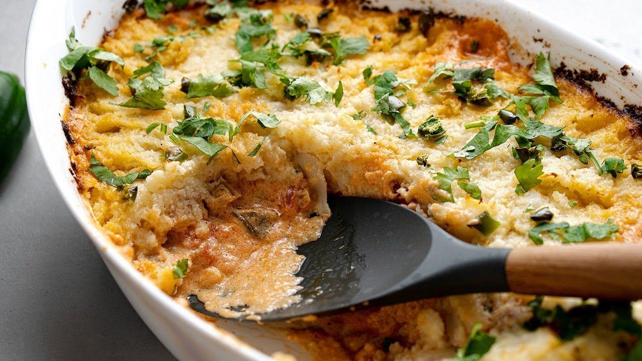 Keto Nacho Chicken Casserole [Southwest Shepherd's Pie]